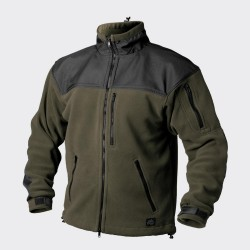 Classic Army Fleece Jacket, Olive green-Black XS